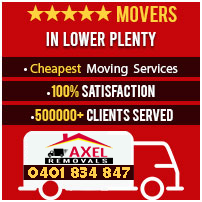 removalists lower plenty